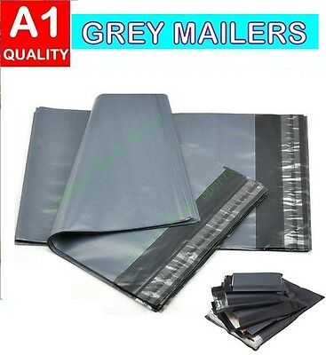 Strong Grey Plastic Post Postage Self Seal Mailing Bags - Many Sizes