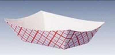 1/2 Lb Red & White Plaid Paper Tray Or Basket, Nachos, Fries, Fruit (1000/box)