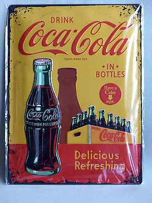 Blechschild Drink Coca Cola  in Bottles Coke 30 x 40 cm Neu/OVP