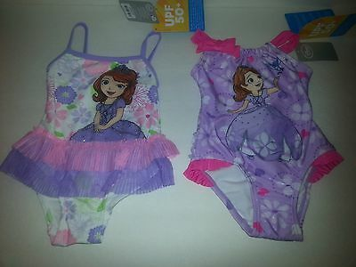 Disney Store Princess Sofia Size 2 Swimsuit One Piece Purple Pink
