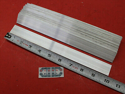 "10 Pieces 1/8"" X 1"" ALUMINUM FLAT BAR 10.5"" long 6061 T6511 .125"" New Mill Stock"