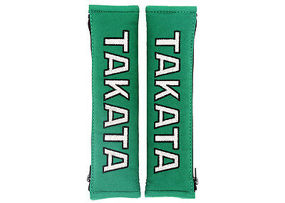 "Takata Racing 2"" (50mm) Harness Pad Pair - Green"