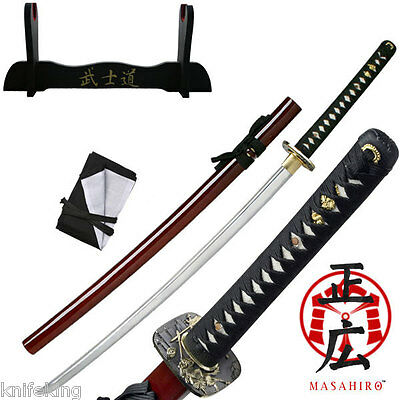 """TENRYU HAND FORGED SAMURAI SWORD 40.9"""" OVERALL - Red (MAZ-019RD)"""