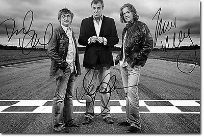 TOP GEAR SIGNED PHOTO PRINT POSTER - INCREDIBLE HIGH QUALITY