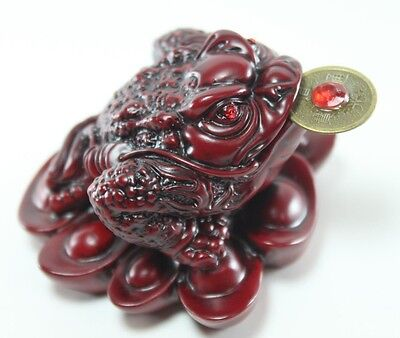 Red Money toad  Lucky frog  - Wealth-beckoning for Excellent Luck Feng Shui