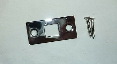 "Decorlux 2.25"" MBF-260 Mortise Bolt Door Strike Plate + Screws POLISHED CHROME"