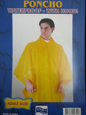 1X Disposable Emergency Rain Coat Clear Adult Raincoat Poncho Outdoor Camping