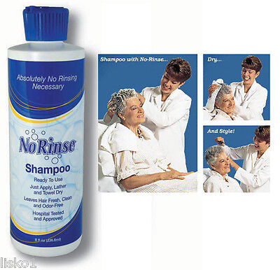 No Rinse SHAMPOO NO WATER NEEDED 1-8 oz.