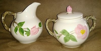 Franciscan Desert Rose Creamer & Covered Sugar Made in England MINT