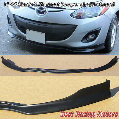 MS Style Front Bumper Lip (Urethane) Fits 11-14 Mazda 2
