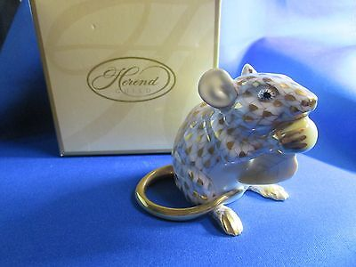 Herend 2008 Guild GOLD Fishnet FIELD MOUSE / Very Limited Member pice sign