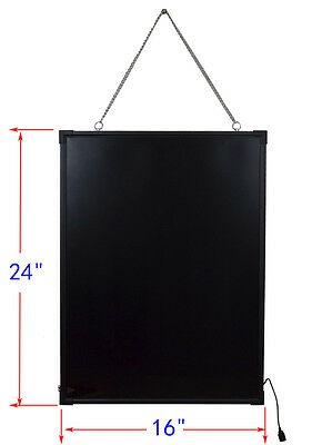 """LED Menu Board 16""""x24"""" Message Sign Display Dry Erase Neon Board One Sided"""