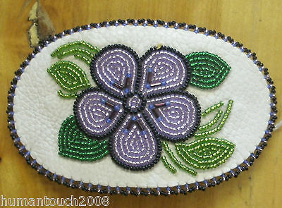 Eskimo Handcrafted  Inupiat Beaded Collectible Hair Barrette By Joanne Olanna