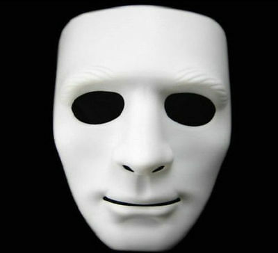 Party Mask For Halloween Costume Mask White Blank Face Mask Fancy Dress Drama