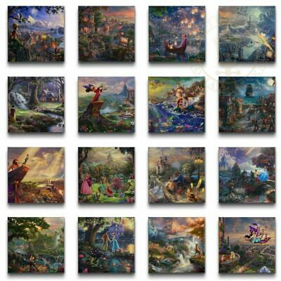 "Thomas Kinkade Complete DISNEY Canvas Wrap Set of 16 ""The Ultimate Collection"""