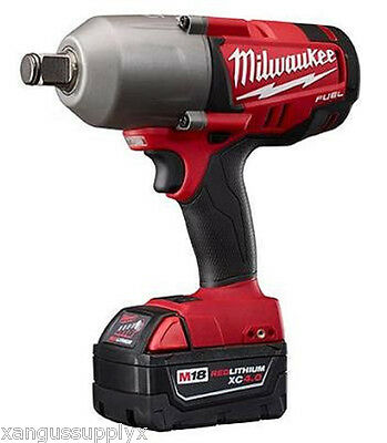 "Milwaukee M18 Fuel 18 Volt Cordless 3/4"" Impact Wrench with Battery and Charger"