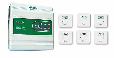 Package Deal: Azel 6 Zone Switching Relay with 6 units of Digital Thermostats