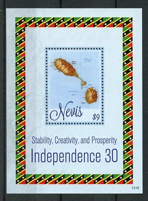 Nevis 2013 MNH Independence 30th Anniv 1v S/S Stability Creativity