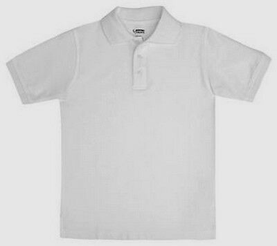 French Toast Unisex Short Sleeve Polo White  New  School Uniform