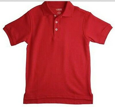 French Toast Unisex Short Sleeve Polo  Red  New  School Uniform