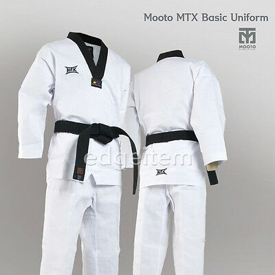 MOOTO MTX Basic Uniform Tae Kwon Do TKD Taekwondo WTF Dobok