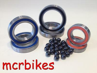 Bicycle Ceramic Hybrid Bearing Cartridges Wheel Hub Pedals Bottom Brackets 2Rs