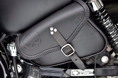 Leather Saddle Bag  Side Bag For Harley Davidson Sportster Models Iron, 48, 72