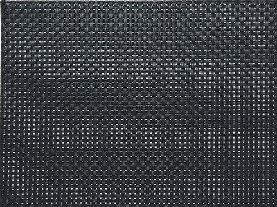 EVERYDAY HOME Black WOVEN VINYL PLACEMAT Table Mat BY CREATIVE TOPS