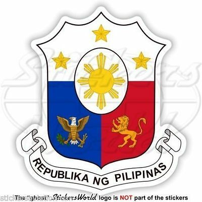 PHILIPPINES COAT OF ARMS DECAL  Size apr 178 mm by178 mm