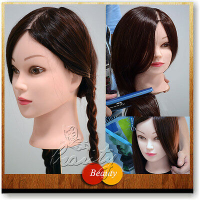 Excellent 50% Real Human Hair Cosmetology Training Head Mannequin for Practice