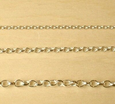 """9ct Gold Plated 925 Sterling Silver Belcher Chain Bracelet Necklace 6"""" to 22"""""""