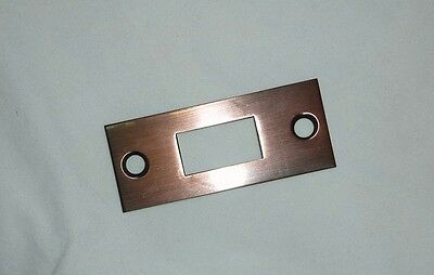 "Decorlux 2.75"" MBS-110 Mortise Bolt Door Strike Plate Striker ANTIQUE COPPER NEW"