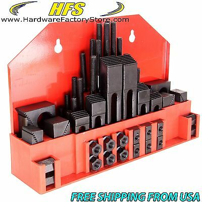 "58 pc 1/2"" Slot 3/8""-16 Stud HOLD DOWN CLAMP CLAMPING SET KIT BRIDGEPORT MILL"