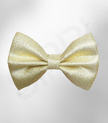 Boys Gold Elasticated Bow Tie Kids Yellow Bow Ties