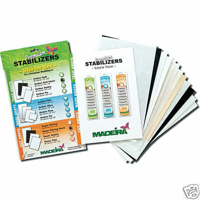Madeira Premium Stabilizer Starter Set, 12 Included!