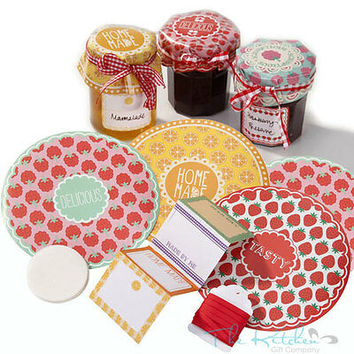 Talking Tables Jam Jar Kit Covers Labels Ribbon- Jam Making Chutney Preserving