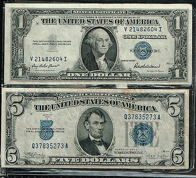 United States Blue Seal Currency Silver Certificates