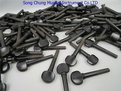 100pcs (25 Sets) Natural Ebony violin pegs 4/4,Musical instrument part