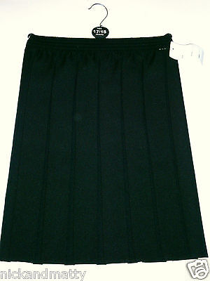 "Girls-Ladies All Round Box Pleated Skirt; School-Party-Dress Up;  To 36"" Waist"