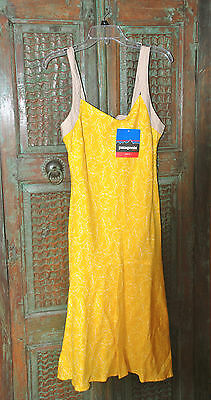Patagonia summer linen dress, size 10 , new with tags. yellow