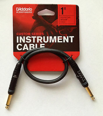 Planet Waves Daddario Custom Series Patch Cable - 1ft; length