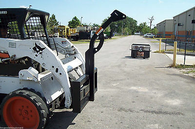"""Skid Steer Tree Boom Carrier, 59"""" H, Rated 3500 Lbs,Made In USA,Only $99 Ship"""