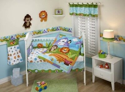 Fisher Price Precious Planets 4 Piece Crib Bedding Set, Free Shipping, New