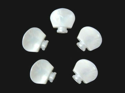 Free shipping -Banjo tuner machine heads pearl plastic buttons 5 pieces-BW