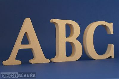 18mm Thick Free Standing MDF Wood Letters & Numbers Height  8,10cm,12cm, 15cm 20
