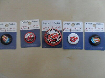 Rolling Stones/5 Badges Anstecker 25mm & 35mm/Button