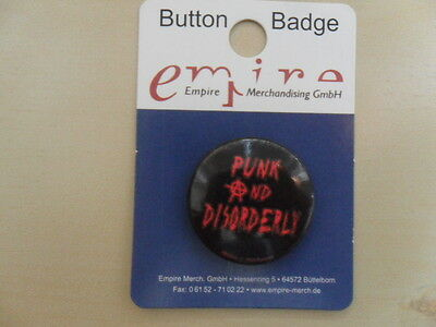 Punk and Disorderly/1 Badges Anstecker 25mm/Button
