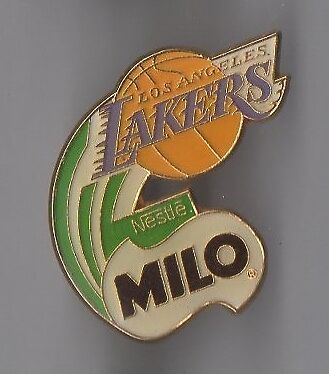 Pin's basket ball / équipe lakers - Milo de Nestlé