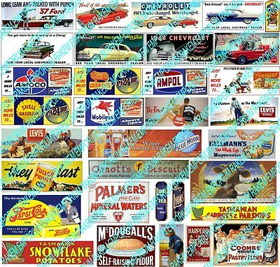 HO Scale Vintage Posters Model Railway Signs - Details - HOVS1