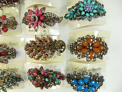 US Seller-lot of 10 pcs wholesale hair barrette vintage inspired
